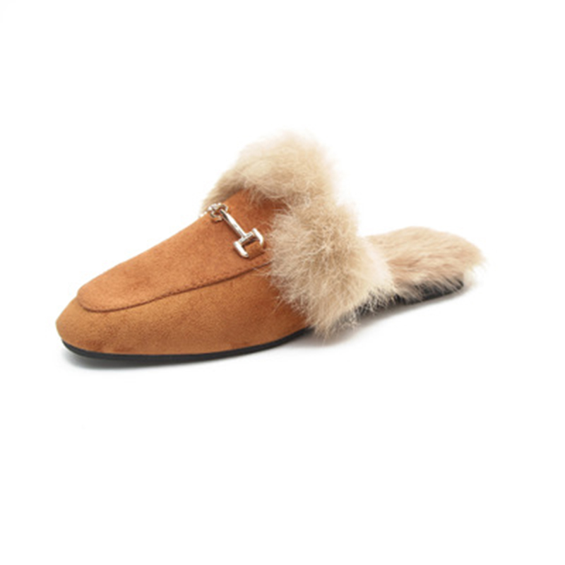 2018 Real Solid Zapatos De Mujer Pantufas Pantufa Womens Furry Slippers Ladies Cute Fox  ...