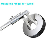 10 160mm Inside Groove Vernier Calipers Stainless Steel Long Claw High Accuracy Measuring Tool JDH99