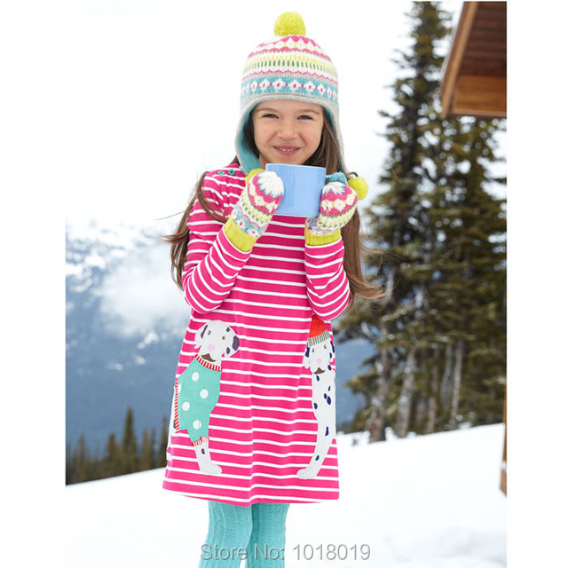 New 2017 Brand Quality 100% Cotton Baby Girls Dresses Toddler Kids Clothing Children Clothes Long Sleeve Casual Dress Baby Girls