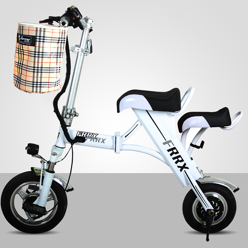 12 дюймов мини-складной велосипед матери и ребенка родителей Электрический велосипед utralight город Портативный 48V8A литий eBike