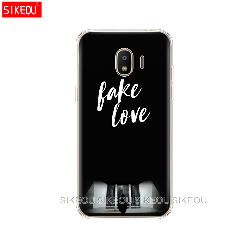 silicone cover phone case for Samsung Galaxy J3 J5 J7 2017 J330 J530 J730 PRO j2 2018 BTS FAKE LOVE YOURSELF