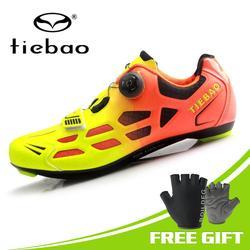 Tiebao mężczyźni MTB buty rowerowe obuwie rowerowe szosowy rower wyścigowy samoblokujące trampki rowerowe oddychające buty sportowe Triathlon