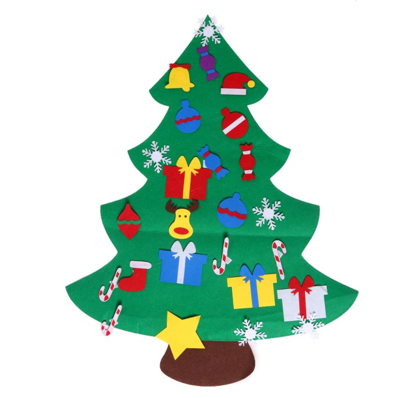 Kids Diy Stereo Felt Christmas Tree With Decorations