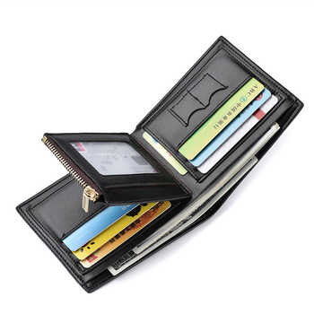 2018 New Men's Wallet Coin Short Credit Card Holder with Pocket Zipper Wallet fashion Top level PU And Leather Wallet - DISCOUNT ITEM  80% OFF All Category