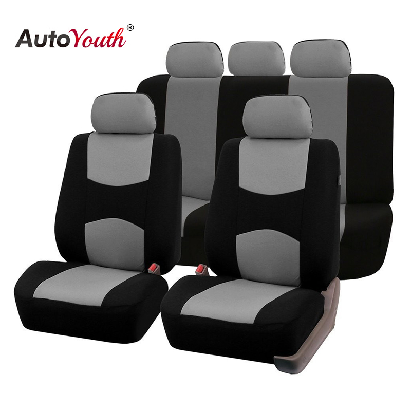 AUTOYOUTH Automobiles Seat Covers Full Car Seat Cover Universal Fit Interior Accessories Protector Color Gray Car-Styling