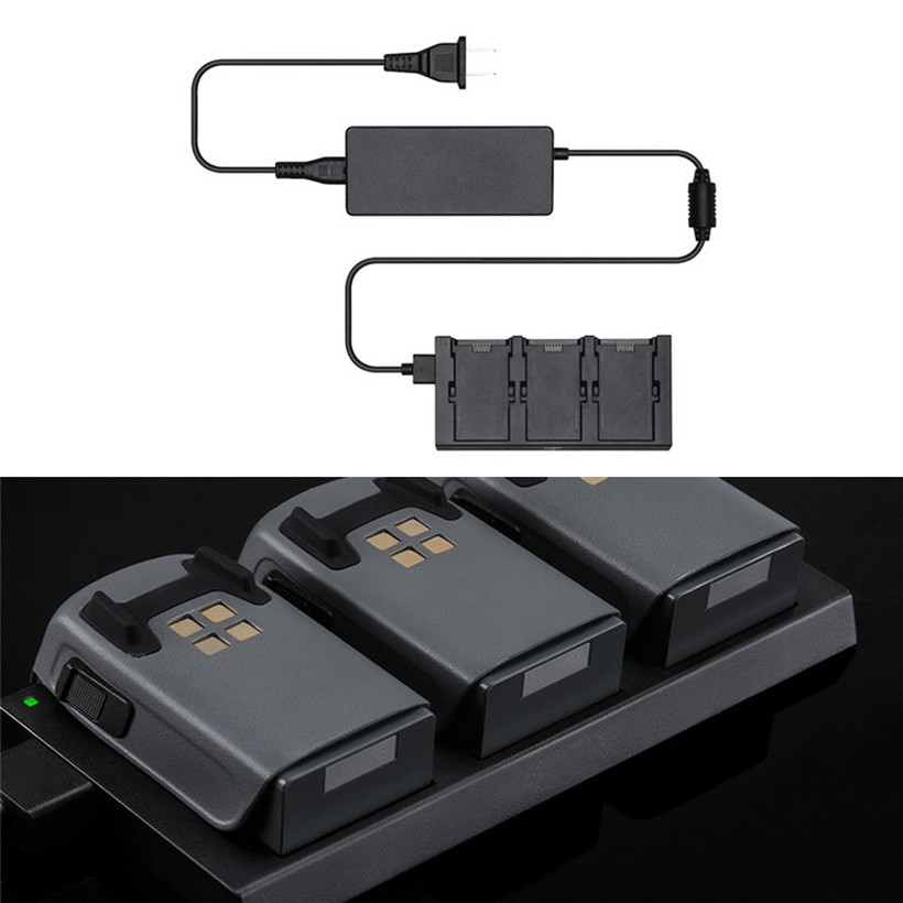 Battery Charging Hub  Intelligent Batteries For DJI SPARK Drone US plug drop shipping 0627 original dji phantom 4 battery charging hub intelligent charge up to three intelligent fly batteries for phantom 4 series