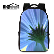 Dispalang красивая одуванчик цветочные печати рюкзаки женщины практические ноутбук рюкзак студенты школы bookbags mochila