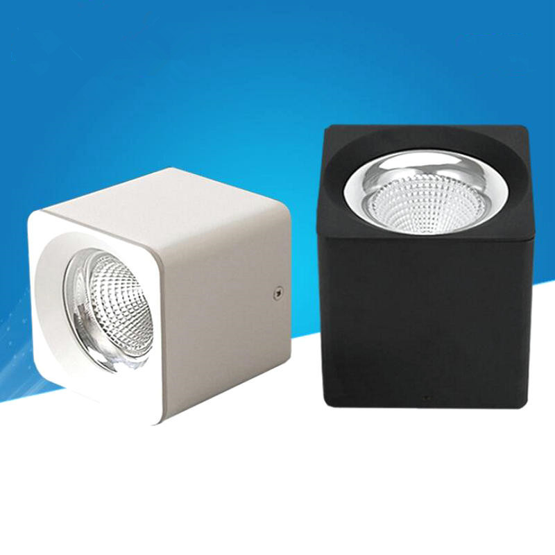 15W COB LED Downlight Square LED Ceiling Lamps AC85V 265V Surface mount Cabinet Wall Spot Down light Ceiling Lamp Home Lighting
