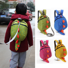 Dinosaur Anti-lost Backpack For Kids Children Plush Backpack Aminals Cartoon Schoolbag(China)