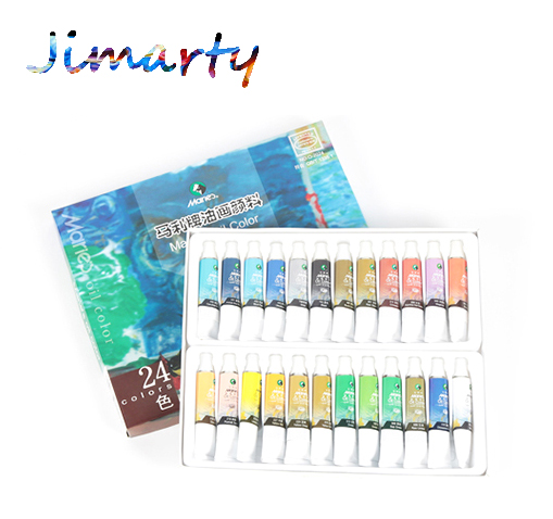 Professional 12/18/24 colors 12ml each tube Oil paints colors painting drawing pigments art supplies Free shipping