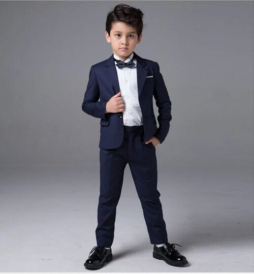 2017 Boys Suits For Weddings Navy Blue Wedding Clothes