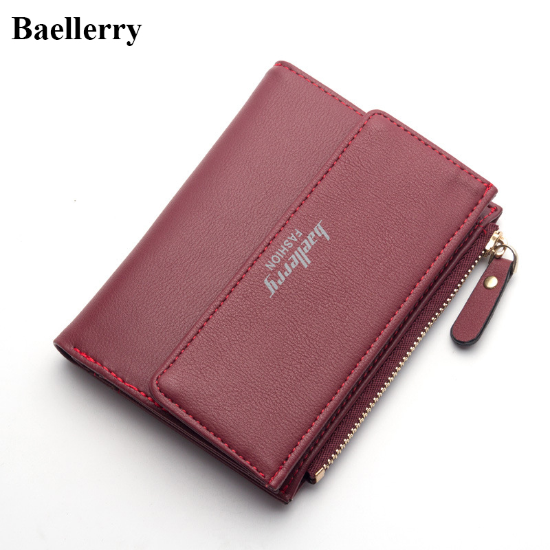 New Designer Brand Leather Wallets Women Hasp Short Coin Purses Money Bags Credit Card Holders Wholesale Clutch Wallets Female baellerry brand wallets men genuine cow leather hasp casual short black coin purses male wholesale money bags credit card holder