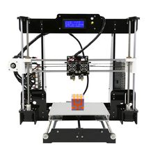FDM Dual Extruder Prusa i3 3D Printers Kit Anet A8M Large Size Printing Platfor DIY Desktop LCD2004 3D Printer with PLA Filament 2015 newest createbot dual extruder mini 3d printer with extremely expedite touchscreen and one abs pla filament for free