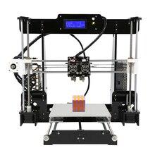 FDM Dual Extruder Prusa i3 3D Printers Kit Anet A8M Large Size Printing Platfor DIY Desktop LCD2004 3D Printer with PLA Filament creality 3d cr 10 s4 3d printer large prusa i3 diy kit large diy desktop 3d printer diy education cr 10 series