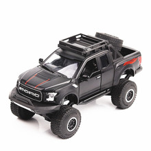 Ford Raptor F150 1/32 Model Truck Car Diecast Metal alloy Light Car Simulation Vehicles Cars Toys For Kids Gifts For Children 1 24 scale storage container truck plastic vehicles toys with diecast mini car hot alloy auto wheels magic tracks cars for kids