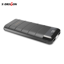 X-DRAGON Portable 20100mAh Power Bank External Battery Phone Charger 2 USB Backup for iPhone 6 6s 7 7s 8 Plus SAMSUNG HTC Xiaomi lson 2600mah portable external power bank w usb cable for iphone ipad samsung htc