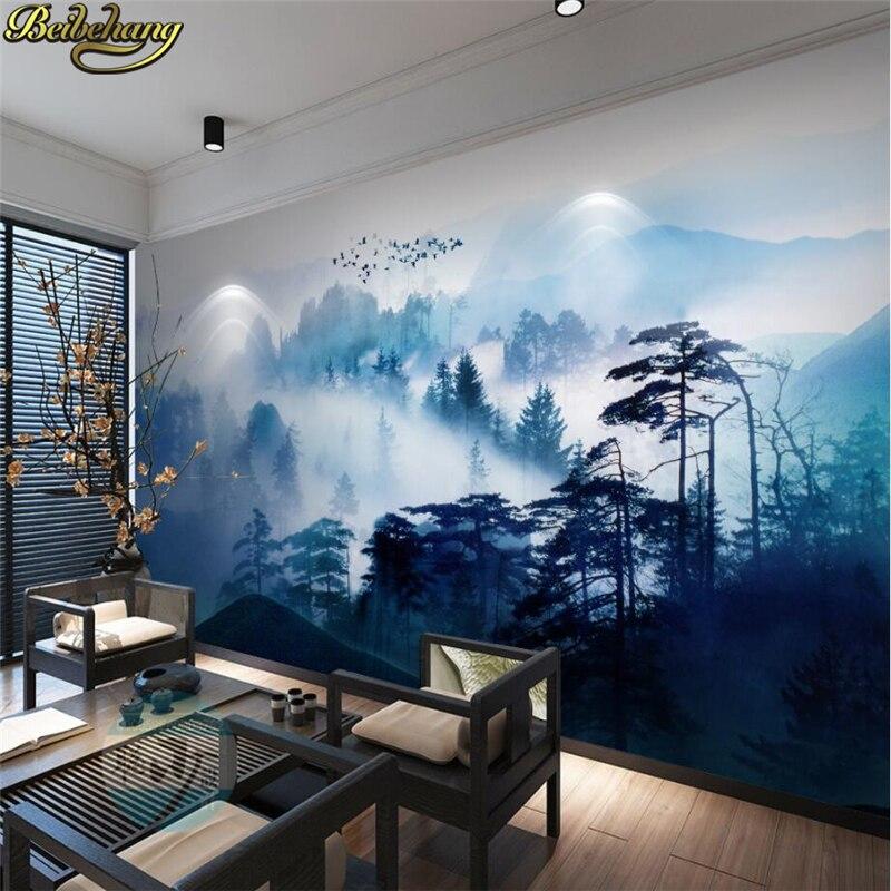 Beibehang wand-papier Tinte malerei foto wandbild tapete für wände 3 d wand  papier für wohnzimmer TV hintergrund aufkleber