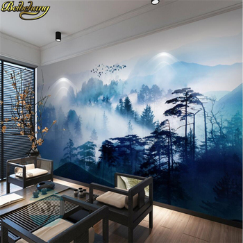 beibehang wall-paper Ink painting photo wall mural wallpaper for walls 3 d wall paper for living room TV background stickers beibehang modern simple stripes wallpaper for walls 3 d living room sofa tv background decor thicken buckskin wall paper roll