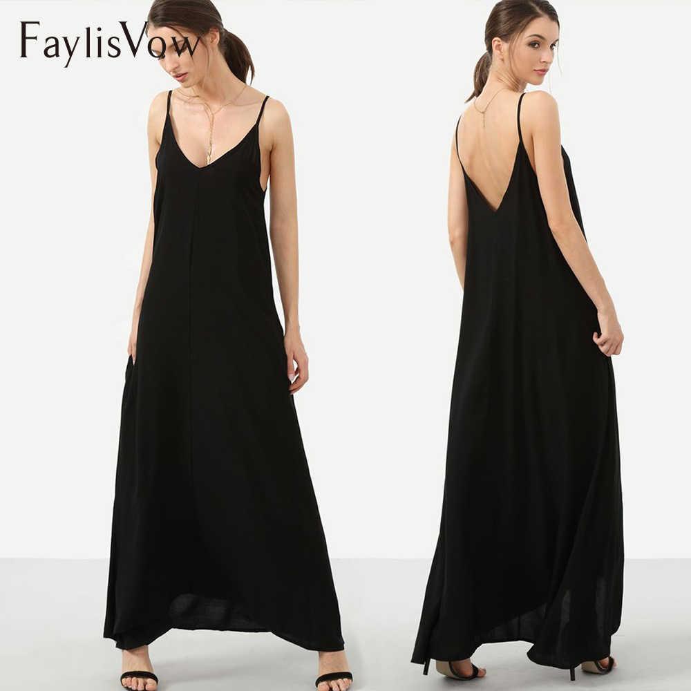 5XL Black Maxi Dress Women Casual Long