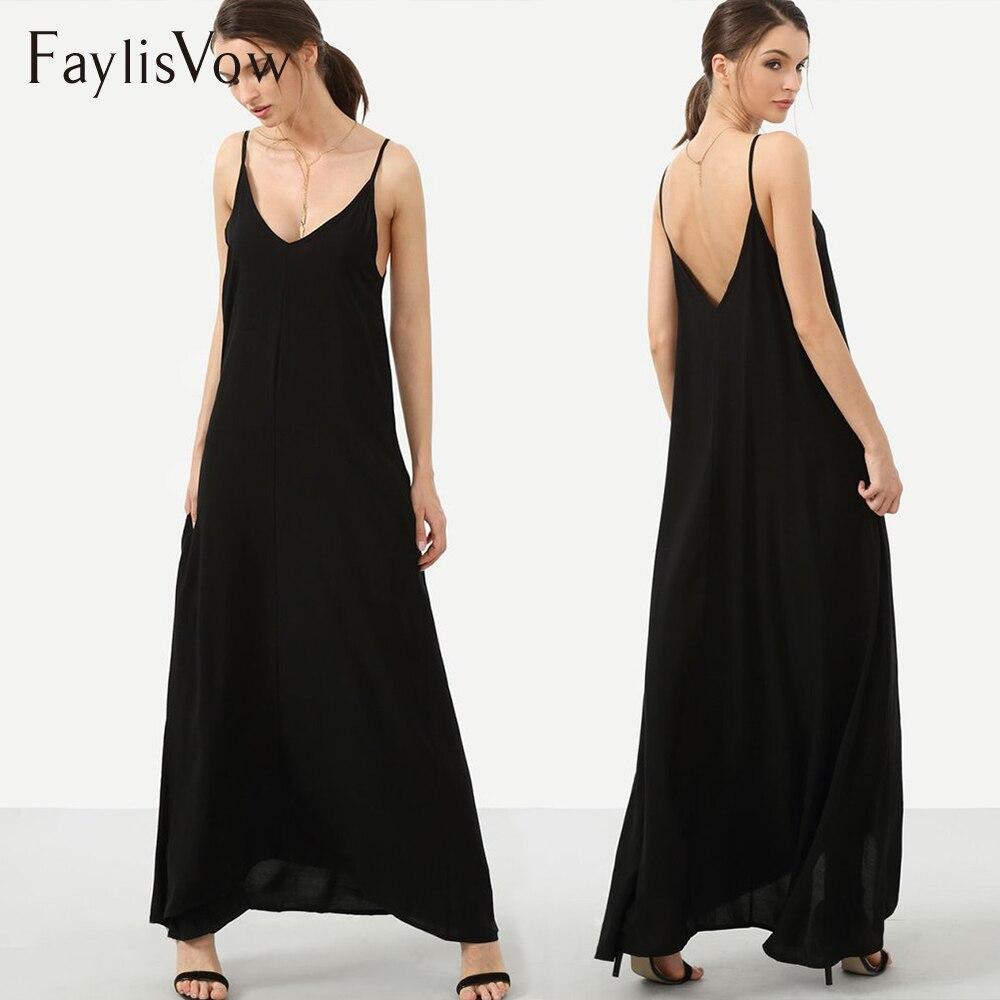 5XL noir Maxi robe décontracté longue sangle dos nu robes d'été Boho fête Sxey plage robe d'été grande taille vêtements