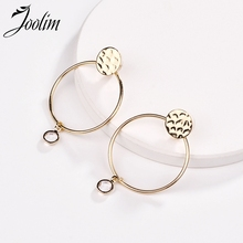 JOOLIM Simple Minimalism Gold Round Metal Drop Earring Alloy Jewelry