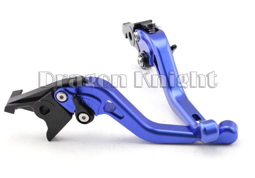 Motocycle Accessories For SUZUKI GSX 650F 09-15 Short Brake Clutch Levers Blue adjustable short straight clutch brake levers for suzuki gsx 650 f gsf 650 bandit n s dl 1000 v strom 2002 2015