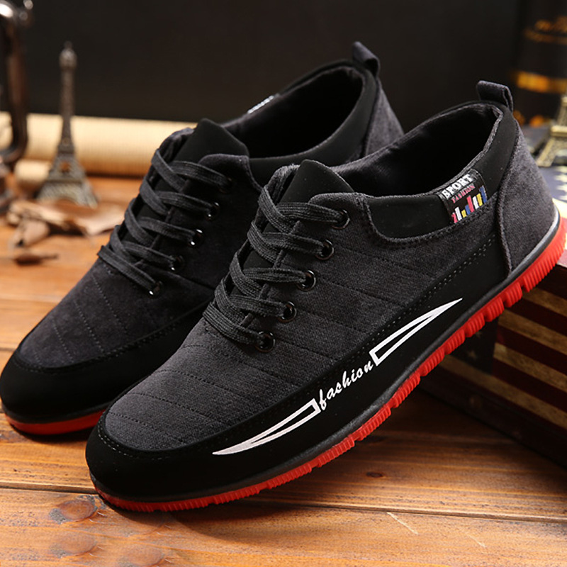 New fashion Spring/Autumn high quality casual men shoes Lace up cool breathable hard-wearing sneakers man flock adult shoes 2018 european cool men shoes breathable light casual adults casual shoes spring autumn solid high quality sneakers man