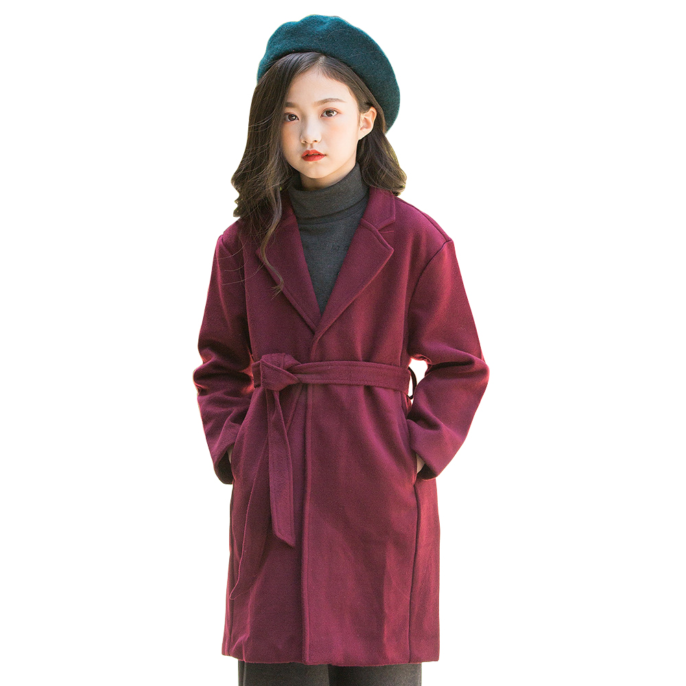 kids winter long coat age for 6 - 16 yrs teenage girls thick warm outfits big girls coat with belt 2018 autumn school style tops children clothes knit 2pcs set age for 4 14 yrs teenage girls winter thick warm school style outfits long sleeve sweater pants