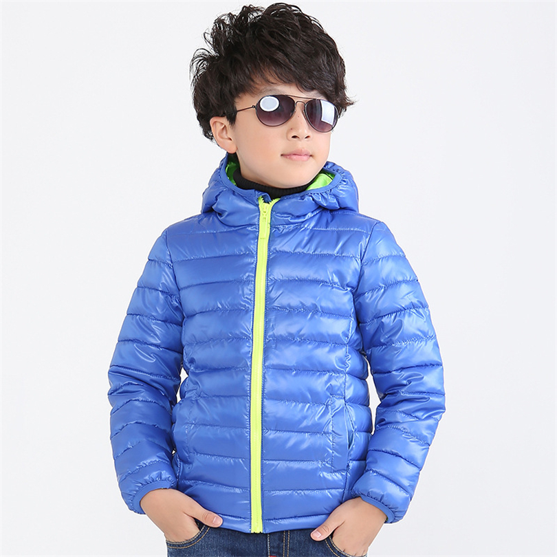 Children's Outerwear Boy and Girl Winter Warm Hooded Coat Children Cotton-Padded Clothes boy Down Jacket kid jackets 3-8 years