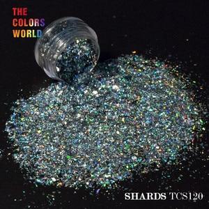 Image 5 - TCT 073 Holografische 12 Kleur Solvent Slip Mylar Shard Glitter Voor Nail Art Decoratie Nail Gel Oogschaduw Make Diy Handleiding
