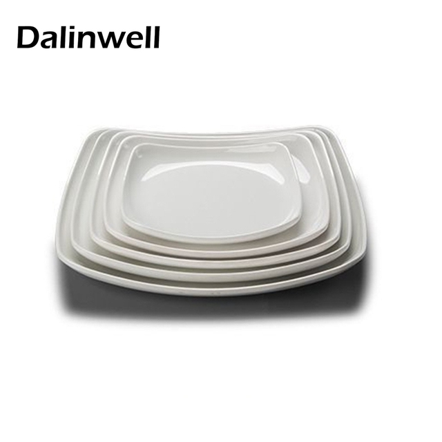 1PCS Western Square Pure White Melamine Plate Hotel Tableware Buffet Dinner Food Sweets Dishes Serving Tray  sc 1 st  AliExpress.com & 1PCS Western Square Pure White Melamine Plate Hotel Tableware Buffet ...
