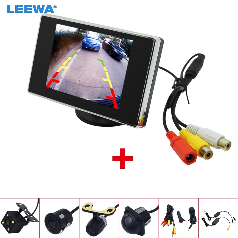 """LEEWA 3.5"""" LCD TFT Stand alone Monitor With Rear View Parking Camera RCA Video System 2.4G Wireless & Cigarette Lighter lcd tft monitor tft lcd monitor tft monitor -"""