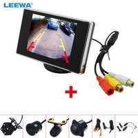 LEEWA-Monitor Independiente LCD TFT de 3,5 pulgadas, con cámara de visión trasera, sistema de vídeo RCA, 2,4G, inalámbrico y encendedor de cigarrillos