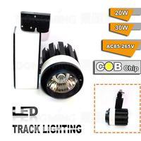 2015 NEW style 30W LED Track lights COB Black add White Shell track lights high power led AC85 265V 6pcs free fedex
