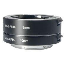 Meike אוטומטי פוקוס מאקרו הארכת צינור מתאם טבעת עבור Sony E הר NEX3 NEX 5 NEX 7 NEX 6 A7 A7II A7III A6000 a6300 A6400
