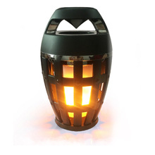 AZN Flame Atmosphere Lamp Light Bluetooth Speaker Portable Wireless Stereo with LED Flickers Outdoor Camping Woofer