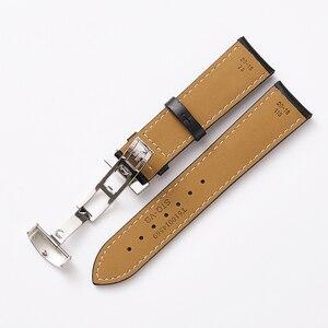 Image 5 - Ремешок для часов, из натуральной кожи, 19 мм, 20 мм, черный, аксессуары для часов, браслет с стальной пряжкой для Tissot 1853 T095
