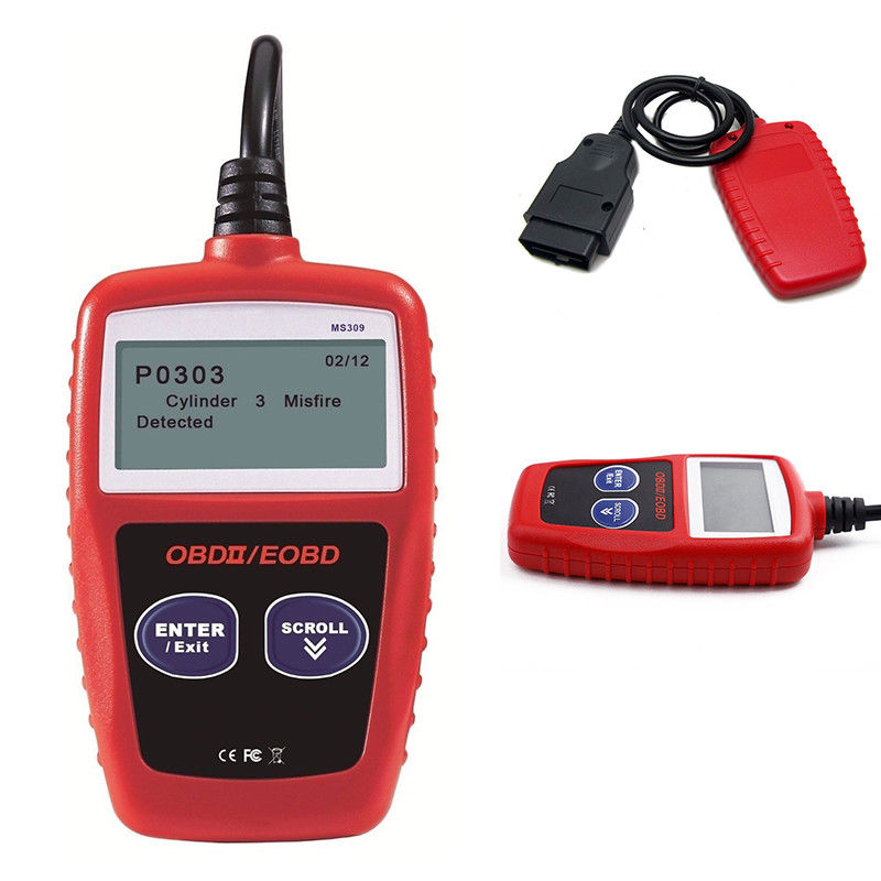 OBD2 MS309 автомобильный диагностический инструмент автоматический диагностический инструмент Testor считыватель кодов компьютера грузовых автомобилей универсальные автомобильные инструменты для диагностики неисправности автомобиля диагностический сканер