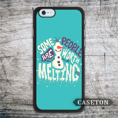 Snowman Olaf Some Body Are Worth Melting Case For iPhone 7 6 6s Plus 5 5s SE 5c and For iPod 5 High Quality Classic Phone Cover