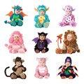 Комбинезон с капюшоном для костюмированной вечеринки; Пижама с изображением дракона  свинки  обезьяны  бабочки  пчелы; Детский костюм на Хэл...