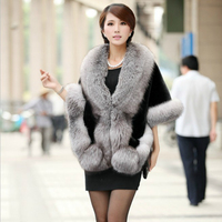 Women Faux Fox Fur Wedding Shawl Cloak Skinny Imitation Mink Fur Coat Female Clearance Special Offer