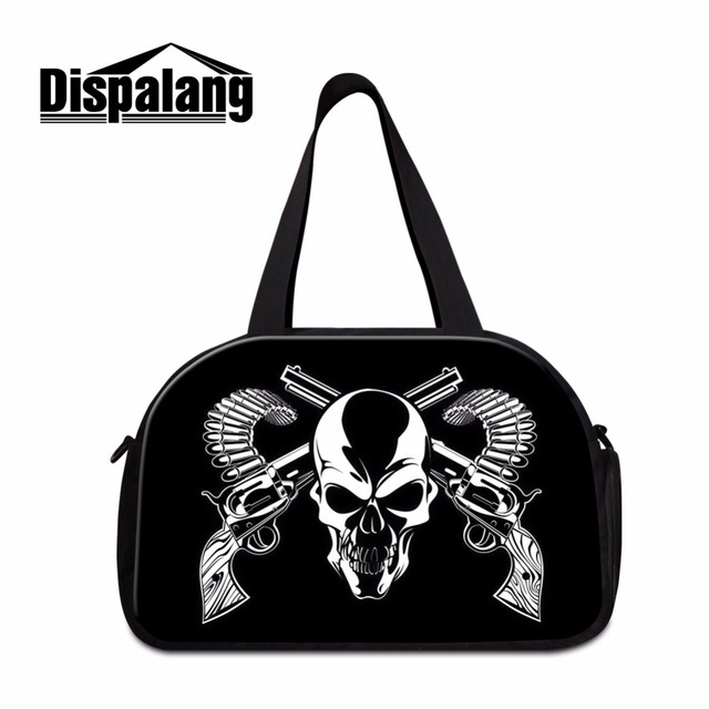 da49e57a50 Cool workout duffle bags for men Skull medium sized shoulder luggage bags  for women boys sporty