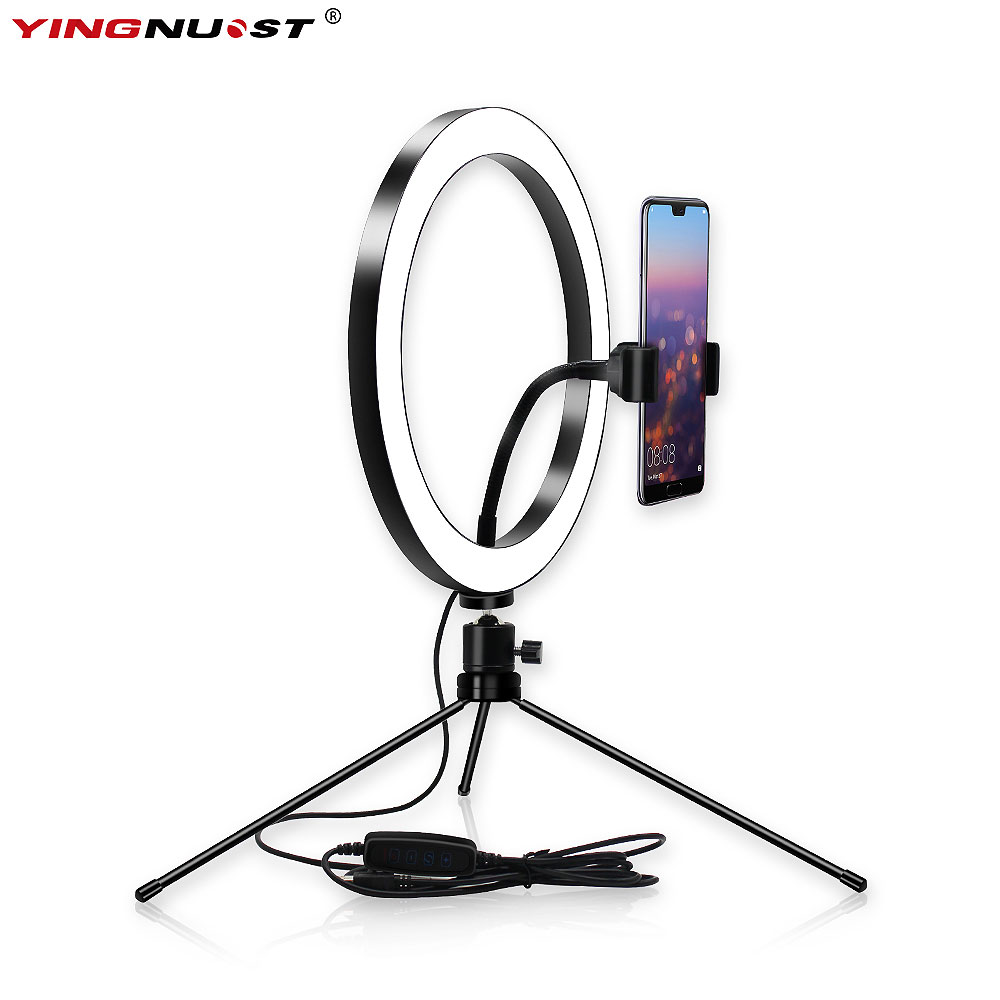 LED Ring Licht Lampe für Youtube Video Make-Up Live-Streaming Ring Füllen Lampe Handy Dimmbare licht