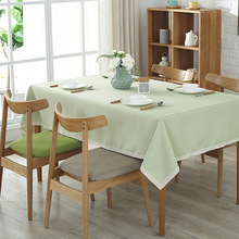 New Thickening Solid Color Tablecloth Hotel Restaurant Rectangle Conference Table Cloth Activity Dining Home Decor