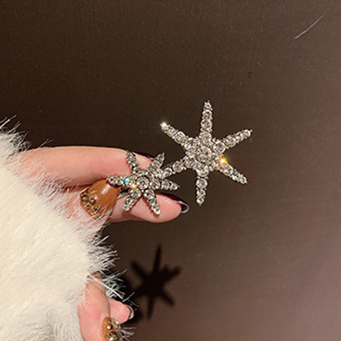 1 Pcs Fashion Crystal Rhinestones Five-pointed Stars Shape Women Hair Clips Barrettes Styling Accessories