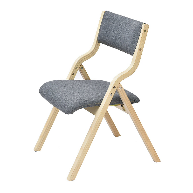 Foldable Household Modern Simple Dining Chair with Backrest Wooden Study Chair Free Installation Washable Coffee Shop Chair dc 12v 5a pwm pc fan temperature manumotive speed controller module cpu high temp alarm with buzz probe for arduino heat sink