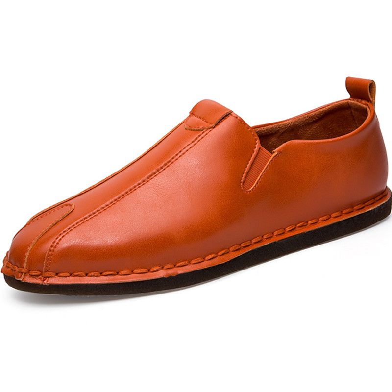 2017 Loafers Comfortable Handmade PU Moccasins leather Slip-On Casual Fashion Men Shoes Driving Leather High Quality Flat Shoes hot high quality men loafers leather round toe slip on casual shoes man flats driving shoes hombre zapatos comfortable moccasins