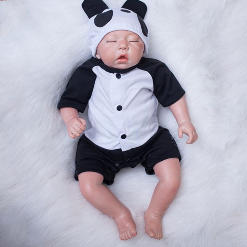 50cm Soft Body Silicone Reborn Baby Dolls Toy Realistic 20inch Vinyl Newborn Sleeping Boy Like Real Babies Alive Doll Birthday P 50cm soft body silicone reborn baby doll toy lifelike baby reborn sleeping newborn boy doll kids birthday gift girl brinquedos