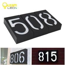 Номер дома Doorplate цифровой солнечный светильник светодиодный номер двери адрес цифры настенное крепление номер для дома с батареей