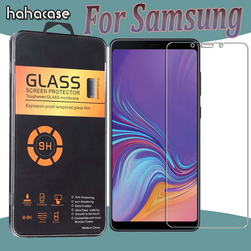 1000pcs 2.5D Anti-Scratch Tempered Glass For Samsung A9 Star A8 A6 Plus A7 2018 A9S A8S A6S Toughen Protective With Acrylic Box